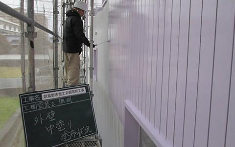 【外壁】中塗り