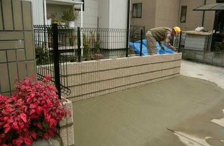 駐車場とフェンスの設置2
