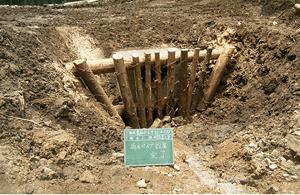 山作業道流木片付け、排水パイプ設置工事6