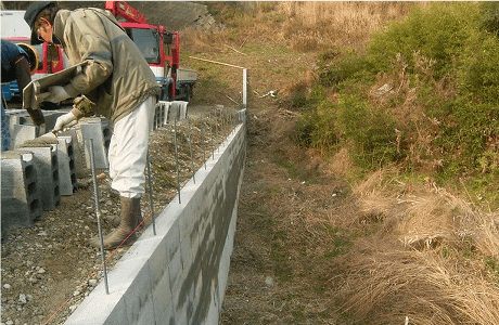 ブロック塀設置工事1